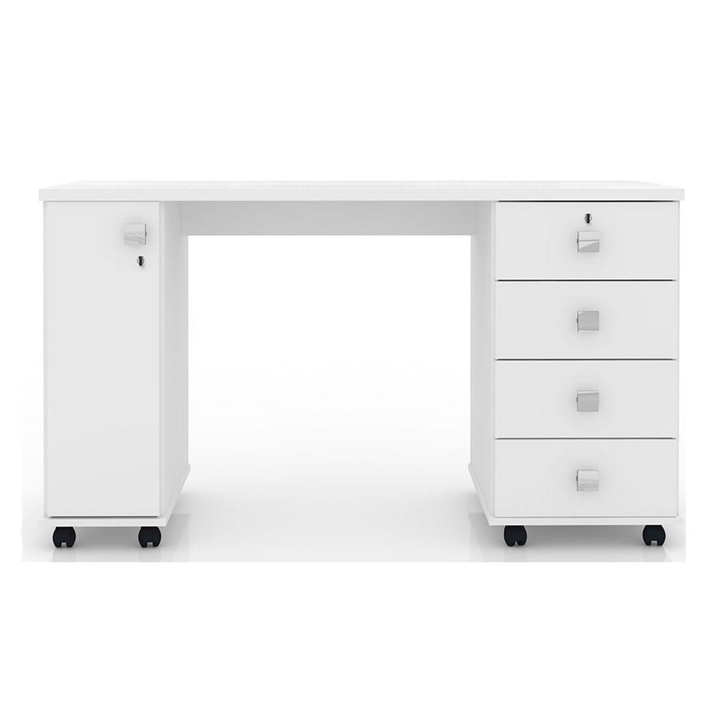 Escrivaninha Para Quarto Com Gavetas ~ bel air mesa para computador smart 4 gavetas 1 porta com chave branco