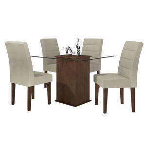 bel-air-moveis-mesa-cancun-lopas-imbuia-soft-jantar-vidro-quadrada-4-cadeiras-animale-bege