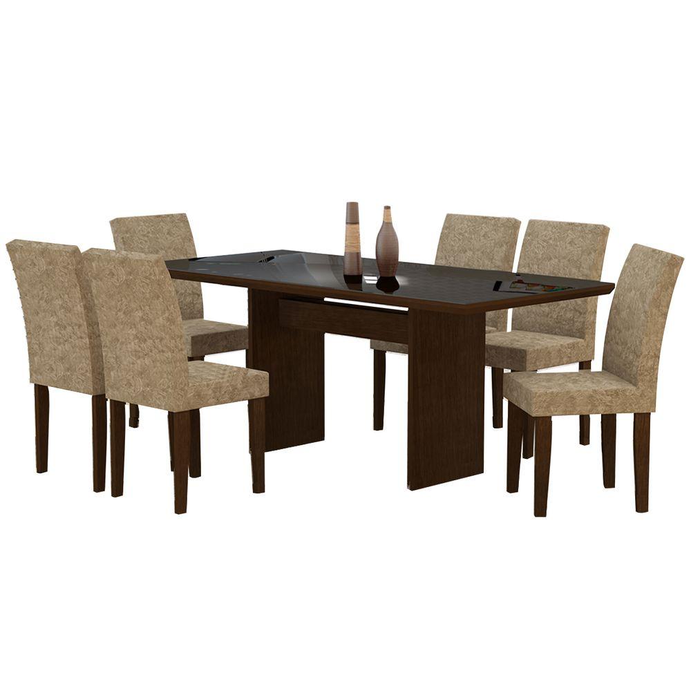 Mesa De Jantar M Veis E Decora O Bel Air M Veis -> Decoracao Sala De Jantar Azul