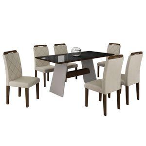 bel-air-moveis-mesa-de-jantar-melissa-6-cadeiras-off-white-castor-velud-creme-tmp-preto