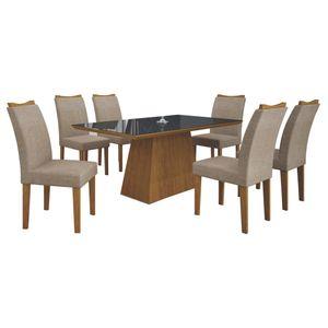 Bel-Air-Moveis_Mesa-de-Jantar_Pampulha-180-quina-reta-com-6-cadeiras-Imbuia-mel-linho-bege