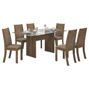 Bel-Air-Moveis_Mesa-de-jantar-Havai-160cm-tampo-de-vidro-6-cadeiras-havai-ype-animale-capuccino
