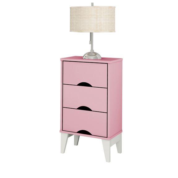 Criado-Twistter-3-gavetas-Quartzo-Rosa-Branco