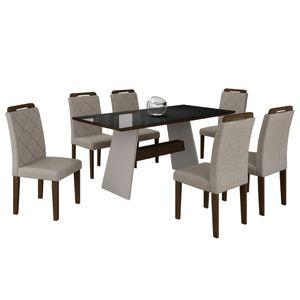bel-air-moveis-mesa-de-jantar-melissa-6-cadeiras-off-white-castor-turim-tmp-preto