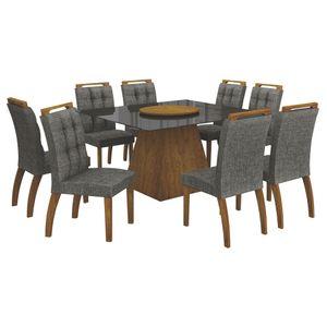 Bel-Air-Moveis_Mesa-de-jantar-Grecia-140cm-prato-giratorio-cadeiras-malaga_Canela-Linho-cinza