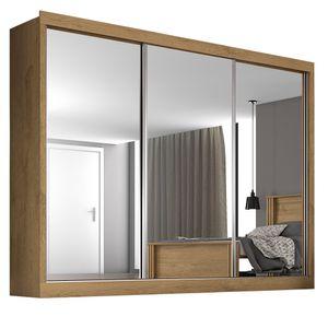 Bel-Air-Moveis_Guarda-roupa-casal_Napoli-3-portas-espelhadas-amendoa