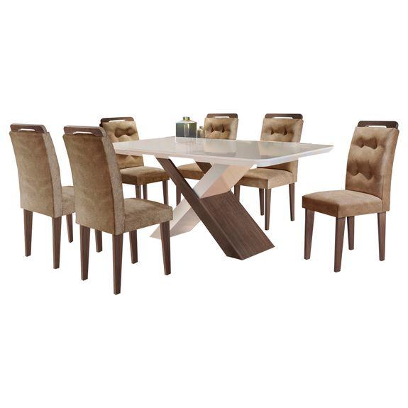 Bel-air-moveis_Mesa-de-jantar-imperatriz_cafe-off-white_cadeira-imperatriz_cafe-tecido-animale-chocolate_rufato