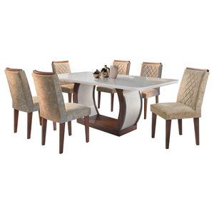 Bel-air-moveis_Mesa-de-jantar-Jade_cafe-off-white_Cadeira-Jade-tecido-sued-amassado-chocolate_rufato
