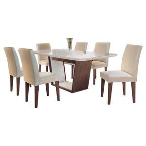 Bel-air-moveis_Mesa-de-jantar-Sofia-Cafe-off-white_cadeira-grecia-tecido-veludo-creme_Rufato