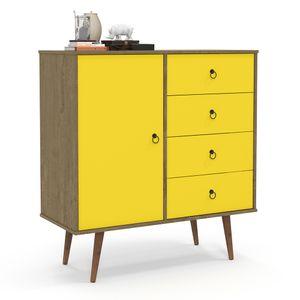 bel-air-moveis-comoda-lady-4-gavetas-1-porta-demolicao-amarelo-fechado