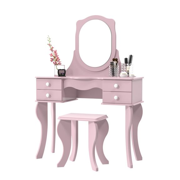 bel-air-moveis-penteadeira-banqueta-princesa-rosa