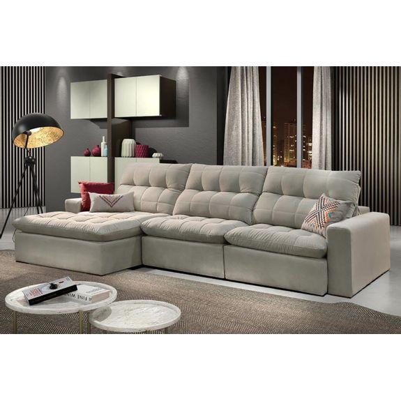 Tremendous Sofa Santoro Retratil E Reclinavel Ravena Prata Bel Air Evergreenethics Interior Chair Design Evergreenethicsorg