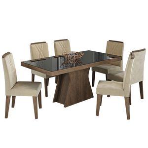bel-air-moveis-cimol-sala-de-jantar-olivia-160-cadeira-nicole-marrocos-preto-tecido-sued-bege