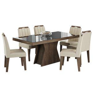 bel-air-moveis-cimol-sala-de-jantar-olivia-160-cadeira-elisa-marrocos-preto-tecido-caramelo