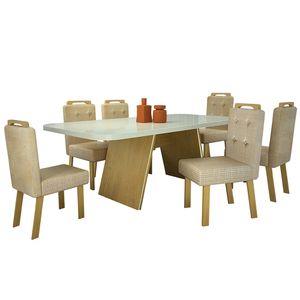 bel-air-moveis-sala-de-jantar-eunice-com-6-cadeiras-eunice-veludo-luxo-bom-pastor