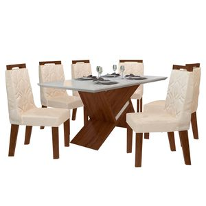 bel-air-moveis-sala-de-jantar-agata-com-6-cadeiras-agata-tecido-veludo-creme
