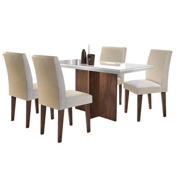 bel-air-moveis-conjunto-mesa-de-jantar-berlim-4-cadeiras-grecia-cafe-tecido-veludo-creme